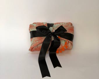 Tropical palm fronds reusable fabric gift wrapping - S/M/L