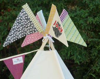Colourful flag for teepee / tipi / wigwam / playtent