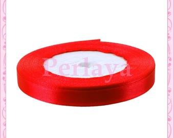Ribbon satin 10mm red REF2608 22 meters