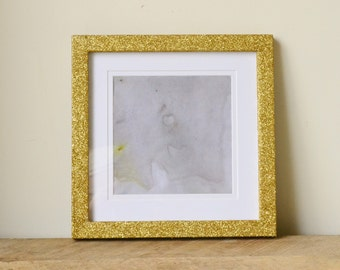 Gold Glitter Sparkle Photo Frame with Removable Border