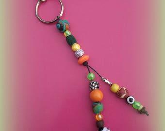 Porte-clé ou bijou de sac , hyper coloré , facile à retrouver au fond du sac !