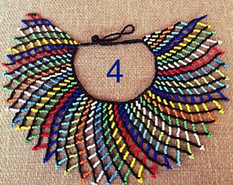 Zulu traditional cape rainbow necklace
