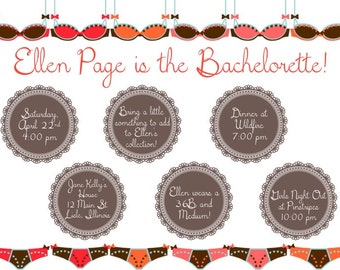 PRINTABLE Bachelorette Party Weekend Invitation/Itinerary LINGERIE - Custom Printable, 8.5x11""