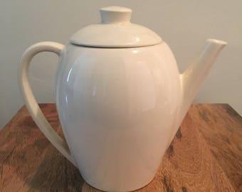 Classic Mid Century Edwin Knowles  Coffee Pot White
