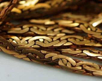 Vintage Brass Chain, 1 Meter- 3.3 Feet Vintage Raw Brass Chain (4.5mm) Z136