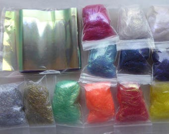 Hope jacare - Fusible film and fibre large experimental pack 40