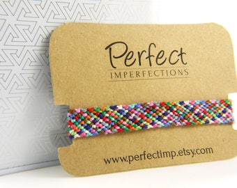 Handwoven Micro Macramé Thin Friendship Bracelet // Up-cycled Woven High Quality Embroidery Thread // PerfectImp Great Gift for Best Friends