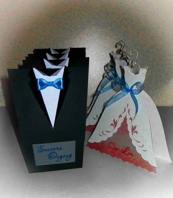 10 pcs Bridal Wedding Invitations Bride or Groom