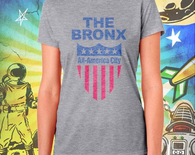 The Bronx All / America City / Women's Gray Performance T-Shirt