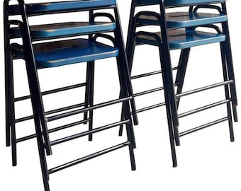 Fabulous Set Of Six Science Lab Bar Stools Industrial