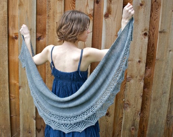 Flow Lace Shawl PDF Knitting Pattern