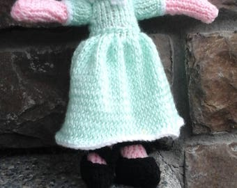 Hand knit Amish style doll