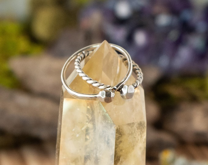 Geode Stacking Ring | Made to Order | Sterling/Fine Silver