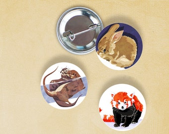 Rabbit, otters and Red Panda badges
