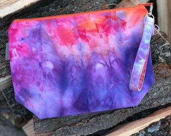 Hand Dyed - OOAK - Medium Watercolor Bag #2