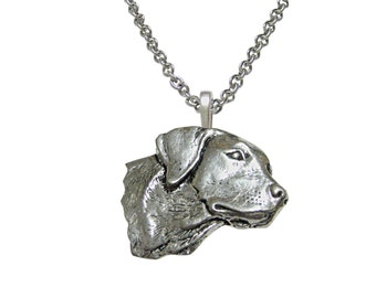 Labrador Dog Head Pendant Necklace