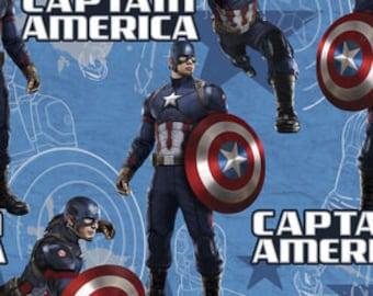 Marvel Comics Captain America Cotton fabric