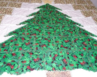 Christmas tree rag throw