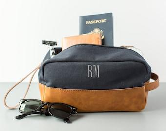 Mens Travel Case   Mens Monogrammed Dopp Kit   Groomsmen Gift Ideas   Monogram Travel Case   Father's Day Gift  Toiletry Case   Gift for Him