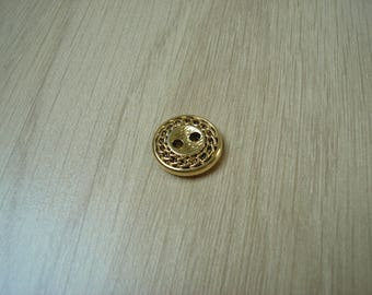 Gold button and vintage chain decor