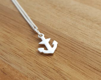 Sterling Silver Anchor Necklace, Silver Anchor Necklace, Anchor Necklace, Silver Anchor, Anchor Charm, Nautical Jewelry, Gift For Her