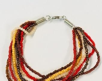 7-Strand Bracelet - Earth Tones