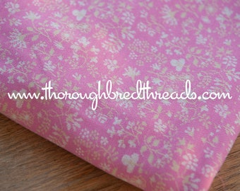 Wildflowers on Pink - New Old Stock  Vintage Fabric Apparel Kids Juvenile
