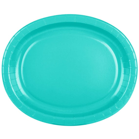 25 (12\ X10\ ) Teal Oval Paper Plate Wedding Supplies Wedding Wedding Decor Plastic Plates Party Supplies Paper Plates Wedding from ...  sc 1 st  Etsy Studio & 25 (12\
