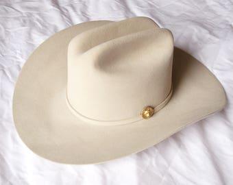Kids Cow Boy or Girl Los Tigres Del Norte White Felt Cowboy Hat