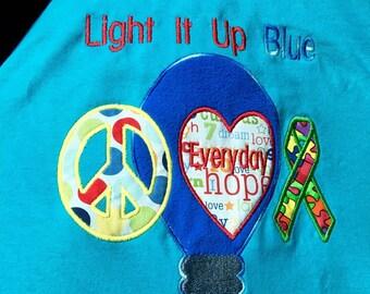 Peace Love And Autism Awareness Shirt