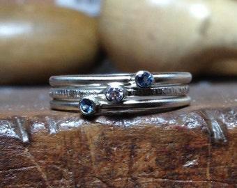 Something Blue stacking rings.