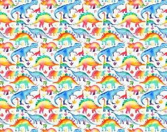 Rainbow Dinosaur Minky Baby Blanket- gender neutral