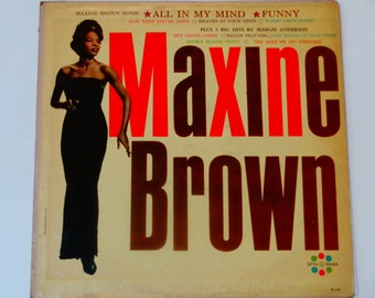 "RARE Maxine Brown Sings w/ Margie Anderson - ""All In My Mind"" - Soul - R&B - Original Mono Spin-O-Rama 1961 - Antique Vinyl Lp Record Album"