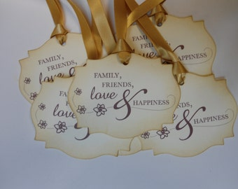 Vintage Inspired Wedding Gift/Wish Tree Tags