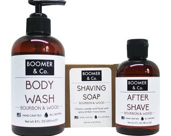 Bourbon & Sandalwood Men's Grooming Kit