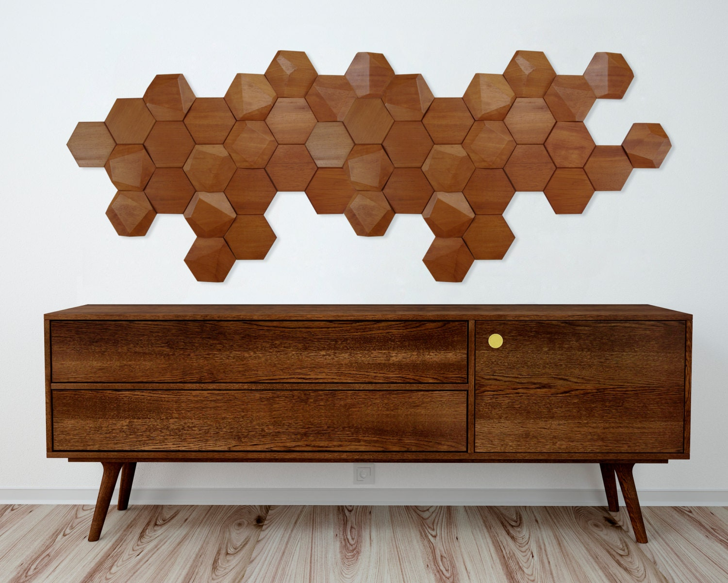 zoom Wood wall art beehive wooden