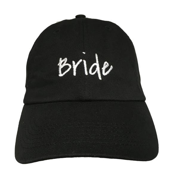 Bride New Style - Ball Cap (Black with White Stitching)