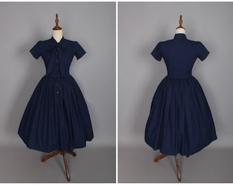 Bonnie Dress in Solid Air Force Blue