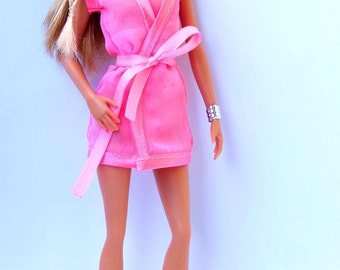 Barbie clothes - Barbie Negligee, Barbie robe Fashion Royalty doll clothes FR2 robe Poppy Parker lingerie NuFace lingerie Royalty Negligee