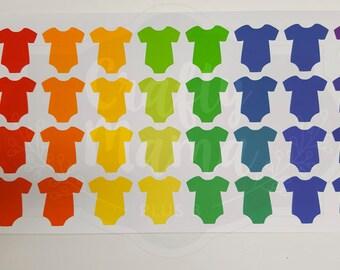 Onsie Stickers! 32 stickers! Great for Erin Condren, FiloFax, Kikki.K, or Plum Paper Planners (131)