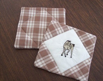 Pot Holders, embroidered mitt, kitchen linens, kitchen mitt, cookware hot pad, western decor, kitchen mitt, potholders, trivets