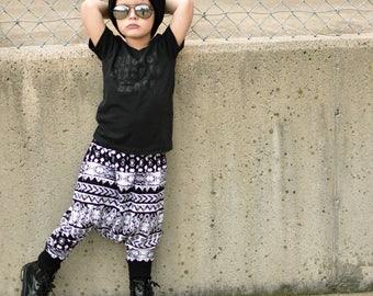Boys Harem Pants, Baby Harem Pants, Girls Harem Pants, Kids Harem Pants, Toddler Harem Pants, Printed Harems