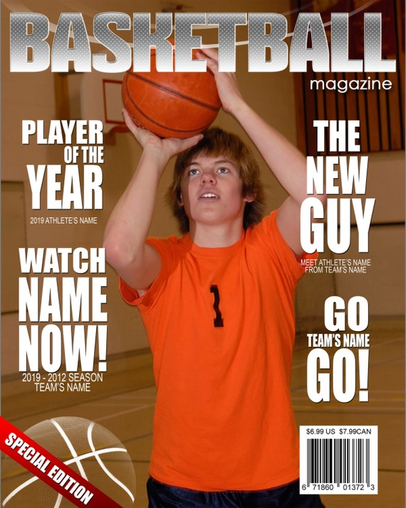 Modèle de couverture de Magazine de basket-ball