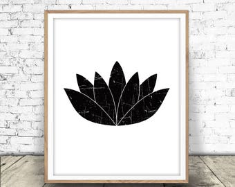 Lotus Flower Print, Yoga Art Printable, Yoga Decor, Lotus, Flower, Yoga Wall Art, Lotus Print, Lotus Printable, Yoga Print, Lotus Download