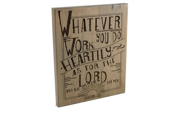 Christian Gift/ Office Decor/ Bible Verse Art On Wood/
