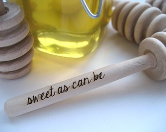 Baby Shower Set of 26 Sweet as Can Be Engraved Honey Dipper Custom Baby Shower Favor