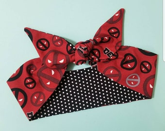 Deadpool Polka Dot Headband