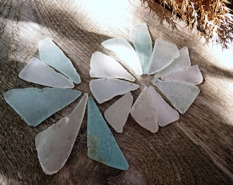 White sea glass blue sea glass triangle seaglass for beach glass necklace sea glass pendant sea glass beads wedding center pieces for tables