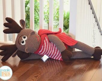 CROCHET PATTERN - Eh Moose Big Amigurumi Crochet PDF Pattern with Instant Download