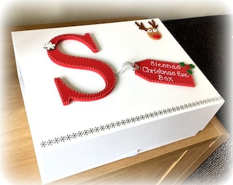 Christmas Eve Box   Christmas Box   Children's Christmas Box   Personalised Christmas Eve Box   White Luxury Gift Box   1st Christmas Box